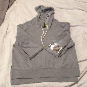 Large Sam Edelman crop  hoodie sweatshirt